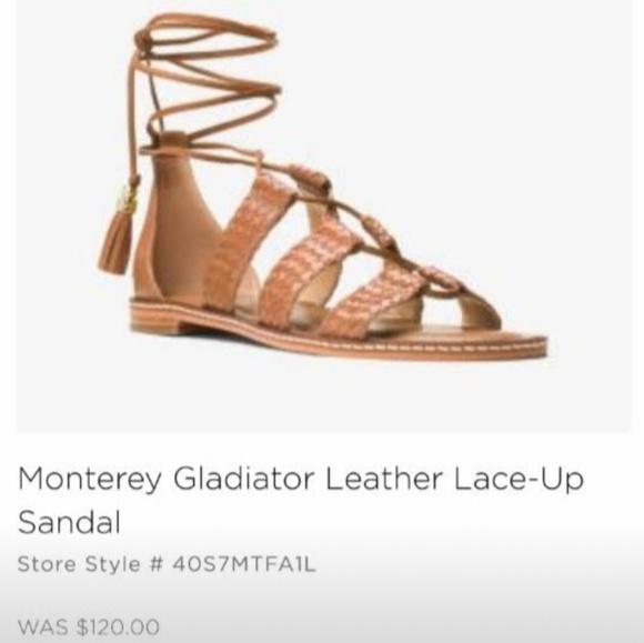 d879b19cda2 Michael Kors Monterey Gladiator Leather Sandals